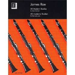 James Rae : 40 Modern Studies For Solo Clarinet