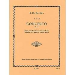 C.P.E. BACH CONCERTO EN LA mineur (alto / Piano)