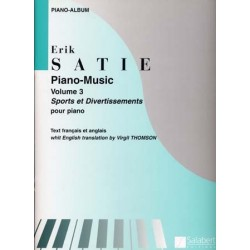 ATIE ERIK PIANO MUSIC VOL.3 SPORTS ET DIVERTISSEMENTS