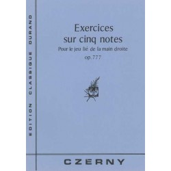 CZERNY EXERCICES SUR 5 NOTES OP 777