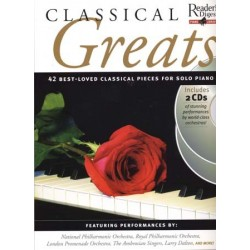 CLASSICAL GREATS FOR SOLO PIANO (+CD)