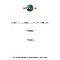 ZEZETTE, GAZELLE, LOULOU, MIMICHE