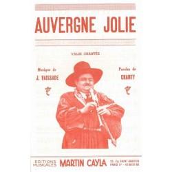 Sheet music AUVERGNE JOLIE Jean Vaissade