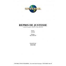 REPRIS DE JUSTESSE