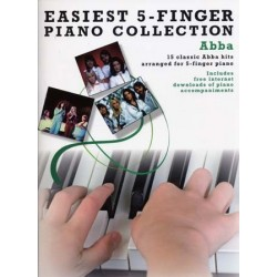 EASIEST 5-FINGER PIANO COLLECTION - ABBA