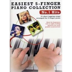EASIEST 5-FINGER PIANO COLLECTION - NUMBER ONE HITS