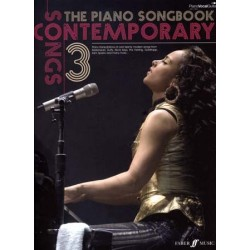 Partition THE PIANO SONGBOOK CONTEMPORARY SONGS 3