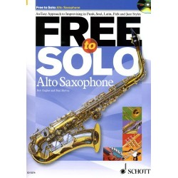 FREE TO SOLO ALTO SAXOPHONE (+CD)