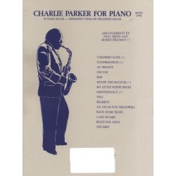 Songbook CHARLIE PARKER FOR PIANO BOOK 1