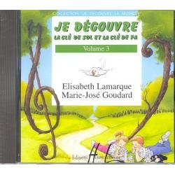 CD JE DÉCOUVRE LA CLÉ DE SOL ET FA Vol.3