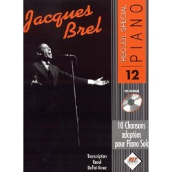 Songbook SPÉCIAL PIANO N°12 JACQUES BREL