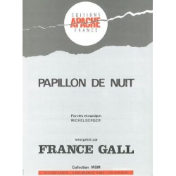 Sheet music PAPILLON DE NUIT France Gall