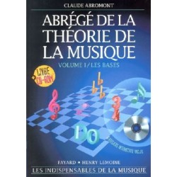ABRÉGÉ DE LA THÉORIE DE LA MUSIQUE Vol.1 (CD-ROM)