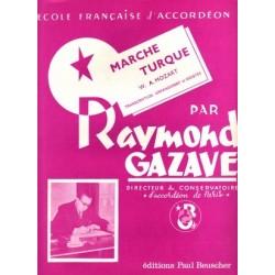 Sheet music MARCHE TURC RAYMOND GAZAVE