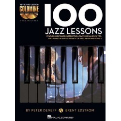 100 JAZZ LESSONS KEYBOARD...