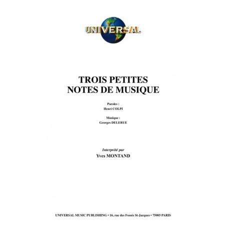 TROIS PETITES NOTES DE MUSIQUE