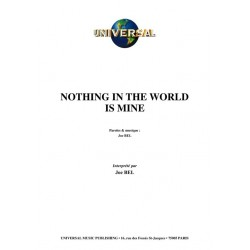 NOTHING IN THE WORLD IS MINE