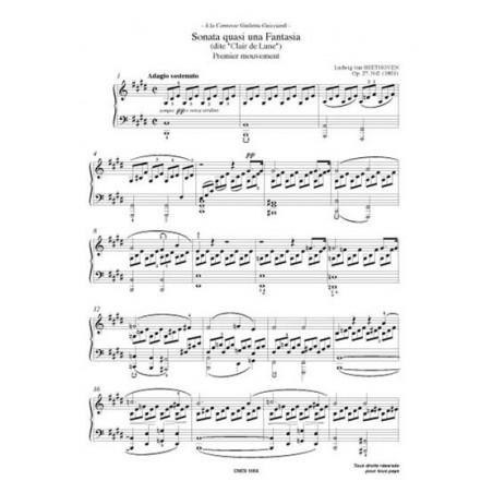 CLAIR DE LUNE (Opus n°27)