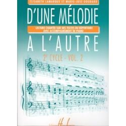 D'UNE MÉLODIE À L'AUTRE VOL.2