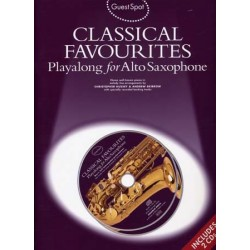 GUEST SPOT - CLASSICAL FAVOURITES PLAYALONG FOR ALTO SAXOPHONE (+CD)