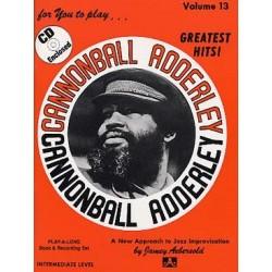 AEBERSOLD VOL.13 - CANNONBALL ADDERLEY (+CD)