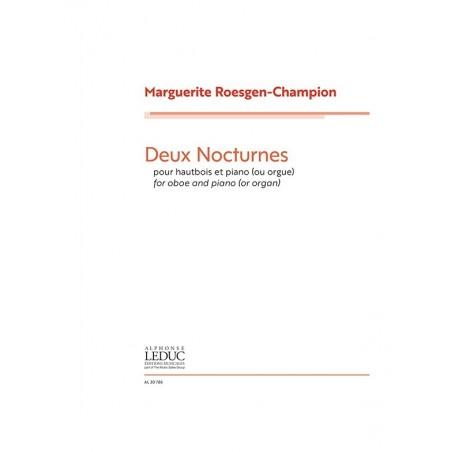 DEUX NOCTURNES POUR HAUTBOIS ET PIANO