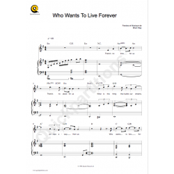 WHO WANTS TO LIVE FOREVER
