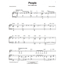 Partition PEOPLE (FROM FUNNY GIRL) Barbra Streisand