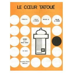 Sheet music LE CŒUR TATOUÉ Jean Claude Brialy