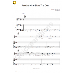 Sheet music ANOTHER ONE BITES THE DUST Queen