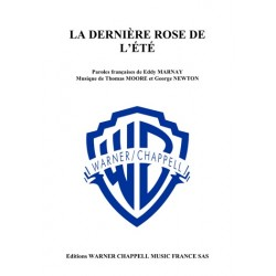 Sheet music LA DERNIÈRE ROSE DE L'ÉTÉ (THE LAST ROSE OF SUMMER) Nana Mouskouri