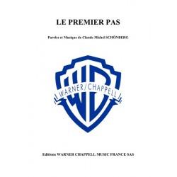 Sheet music LE PREMIER PAS Claude-Michel Schönberg