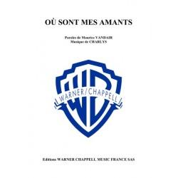 Sheet music OÙ SONT MES AMANTS Frehel