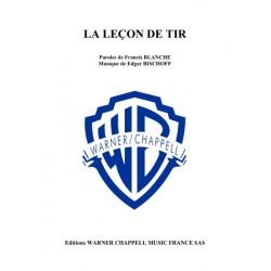 Sheet music LA LEÇON DE TIR Francis Blanche