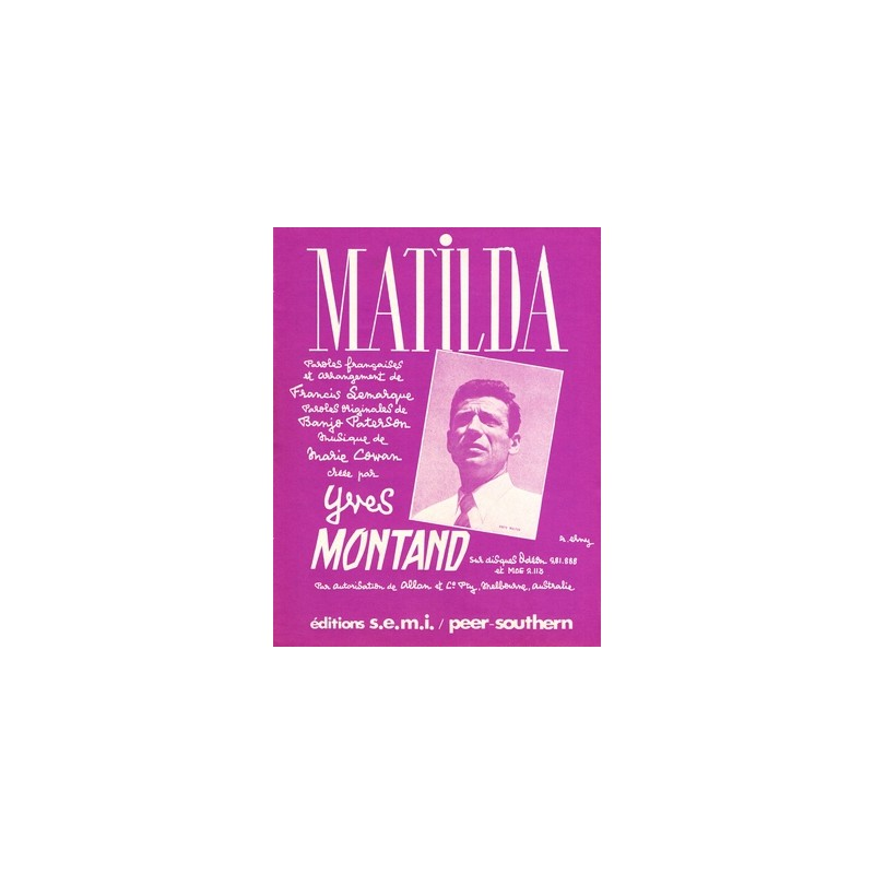 Partition MATILDA Yves Montand