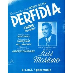 Sheet music PERFIDIA Luis Mariano