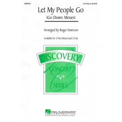 Sheet music LET MY PEOPLE GO (GO DOWN, MOSES) Roger Emerson