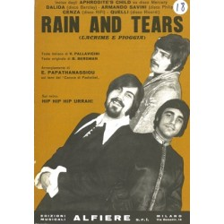 Sheet music RAIN AND TEARS Aphrodite's Child