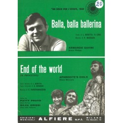 Sheet music BALLA BALLA BALLERINA END OF THE WORLD Aphrodite's Child