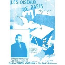 Sheet music LES OISEAUX DE PARIS Charles Trenet