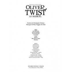 Songbook OLIVER TWIST LE MUSICAL INTÉGRAL