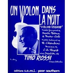 Partition UN VIOLON DANS LA NUIT (VIOLINO TZIGANO) Tino Rossi