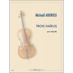 Sheet music TROIS HAÏKUS Michaël Andrieu
