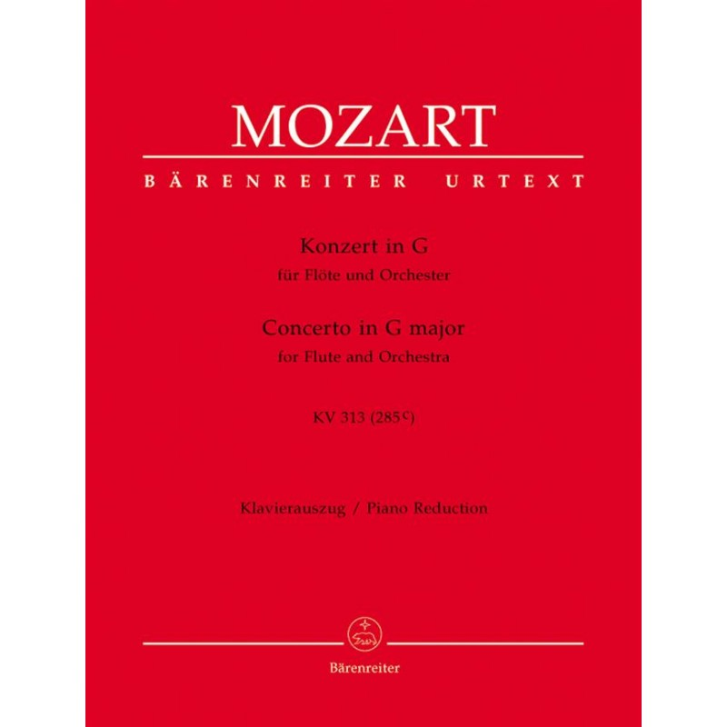 Partition CONCERTO IN G MAJOR KV 313 Wolfgang Amadeus Mozart