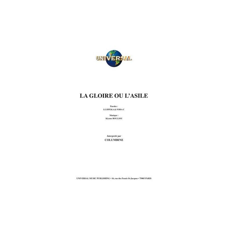 Partition LA GLOIRE OU L'ASILE COLUMBINE
