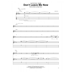 Sheet music DON'T LEAVE ME NOW Pink Floyd