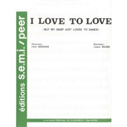 Sheet music I LOVE TO LOVE Tina Charles