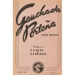 Partition GAUCHADA PORTENA Jacques CAHAN