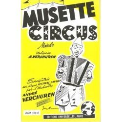 Partition MUSETTE CIRCUS André VERCHUREN