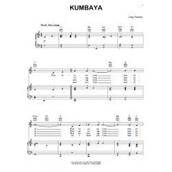 Sheet music KUMBAYA